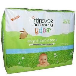 Seventh Generation Free and Clear Baby Wipes - 256 per pack