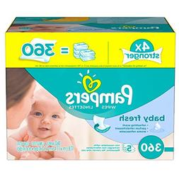 Pampers Baby Fresh Water Baby Wipes 5X Refill Packs, 360 Cou