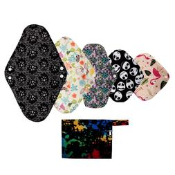 XS S M L XL Cloth Menstrual Pad Mama Cloth Sanitary Bamboo C