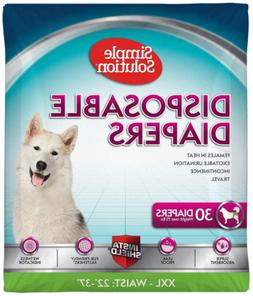 XXL 30 Count True Fit Disposable Dog Diapers For Female Dogs