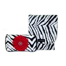 Zebra and pink flower Swarovski crystal Diaper clutch and wi
